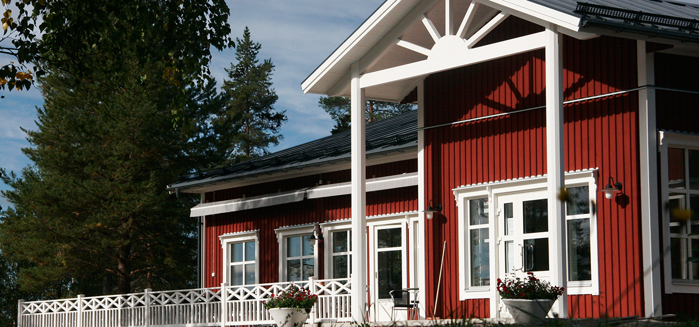 Sörbyn lodge - your perfect base to enjoy the woodlands of Swedish Lapland.